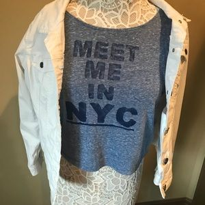 Tops - Meet me in NY crop top
